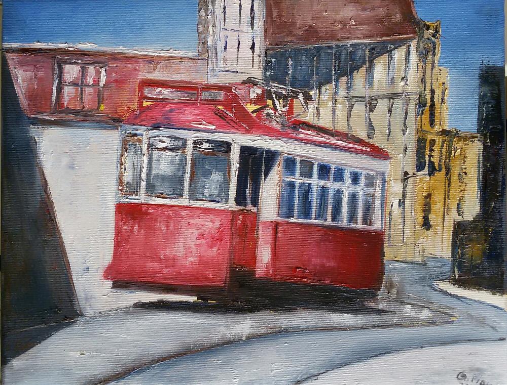 Tram rosso.