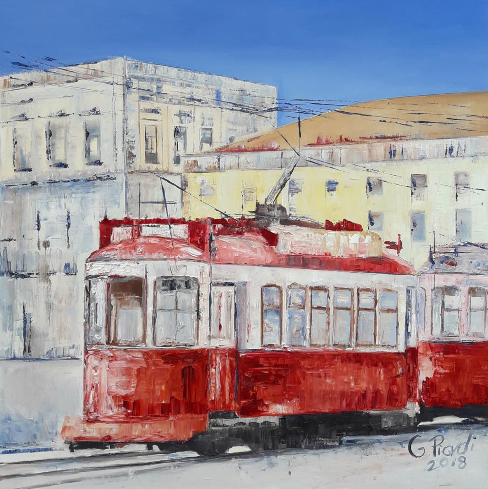 Il tram rosso di Lisbona
