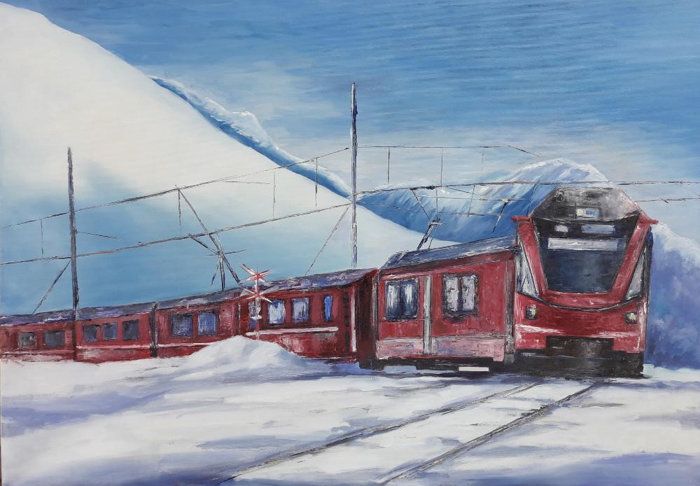 Il trenino del Bernina.