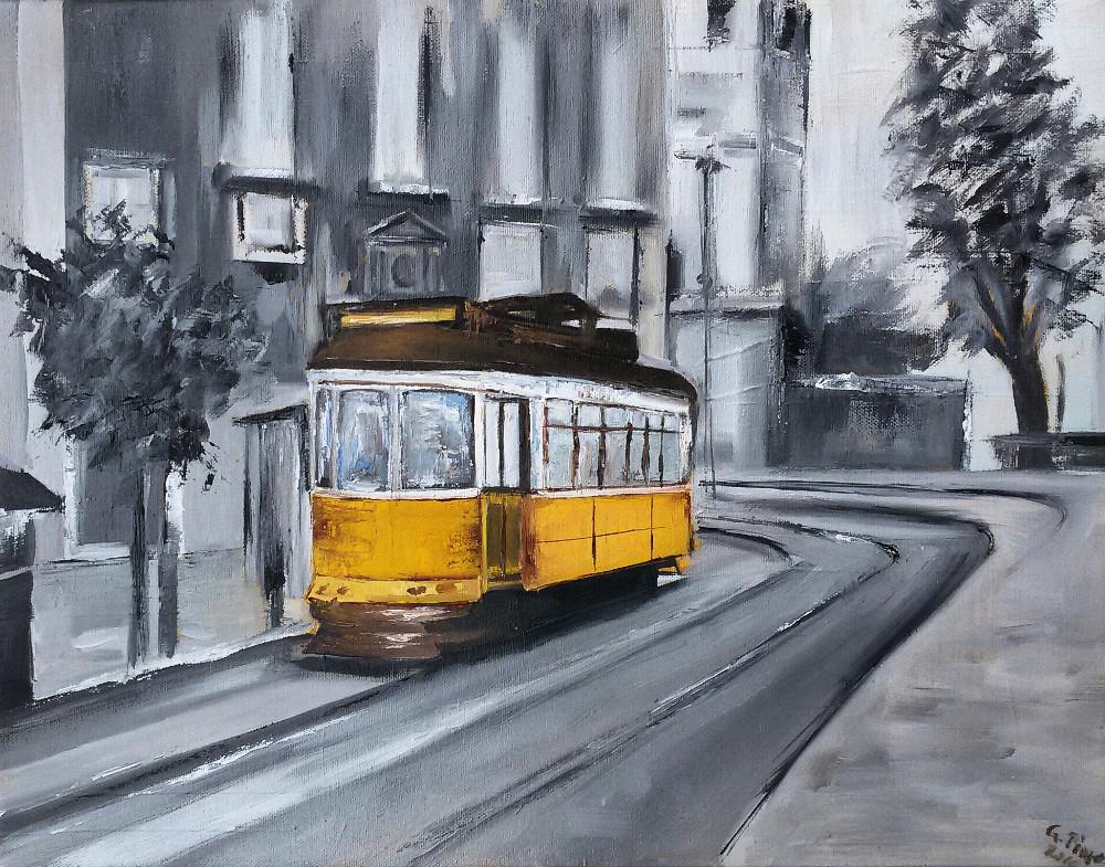 Il tram giallo di Lisbona
