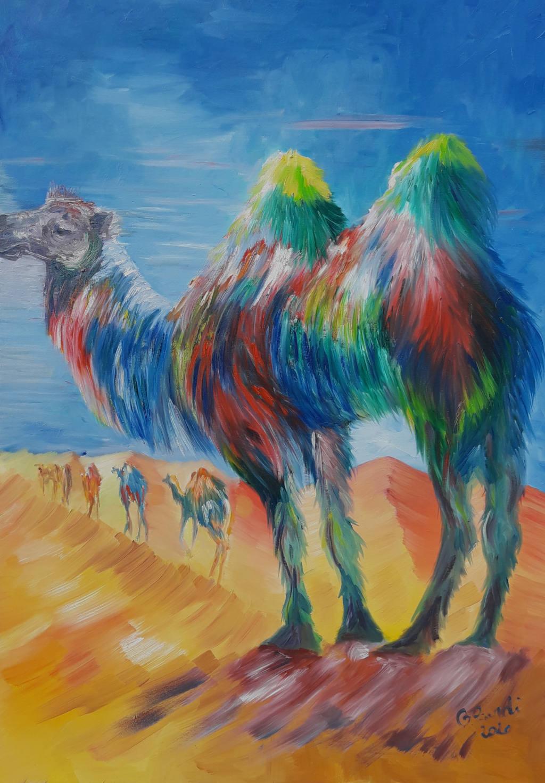 Una fila di cammelli