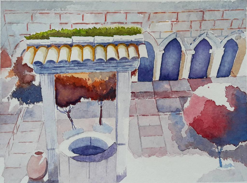 Chiostro del Duomo di Frejus, cortile.